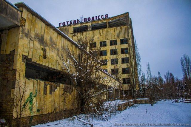 Зимняя прогулка по Припяти в 2019 году