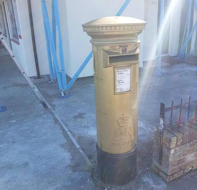 Олимпийский почтовый ящик в Англии