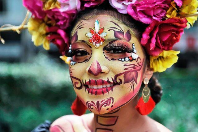 Парад в Мексике, приуроченный ко Дню Мёртвых