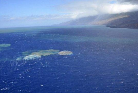 Подводное извержение вулкана на Канарский островах